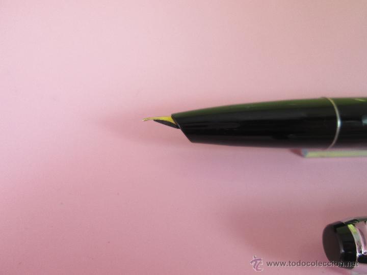 Plumas estilográficas antiguas: 10153/PLUMA ESTILOGRÁFICA-GERMANY-MONTBLANC-MONTE ROSA-CAJA-LIBRETO-VISOR-ÉMBOLO-138 MM-(30) - Foto 4 - 26692992