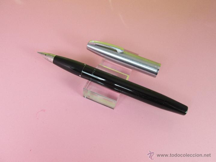 NN1853-PLUMA ESTILOGRAFICA-U.S.A.-SHEAFFER IMPERIAL II TOUCHDAWN-BLACK STEEL-1960-PERFECTA (Plumas Estilográficas, Bolígrafos y Plumillas - Plumas)