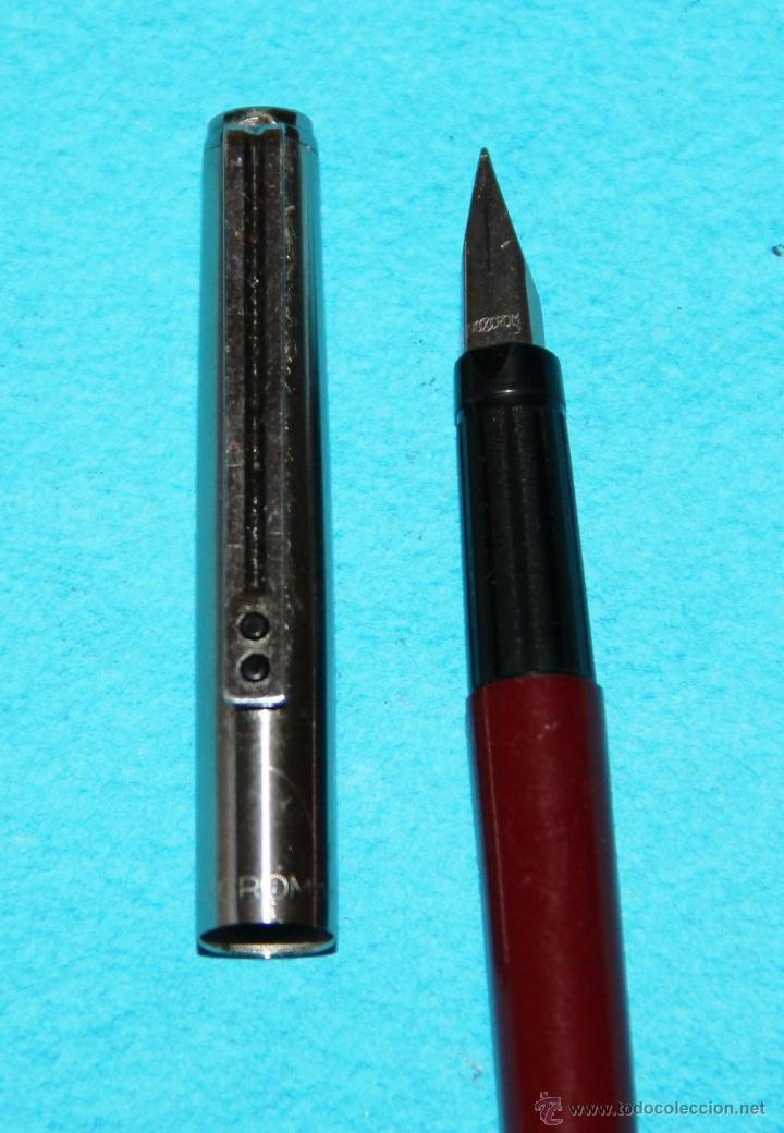 Plumas estilográficas antiguas: PLUMA ESTILOGRAFICA INOXCROM 1700 FINA - Foto 2 - 55106517
