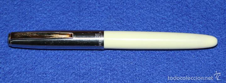 Plumas estilográficas antiguas: PLUMA ESTILOGRAFICA INOXCROM 66 ORO CLIP DORADO - Foto 2 - 55340034