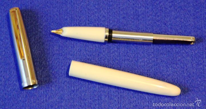 Plumas estilográficas antiguas: PLUMA ESTILOGRAFICA INOXCROM 66 ORO CLIP DORADO - Foto 4 - 55340034