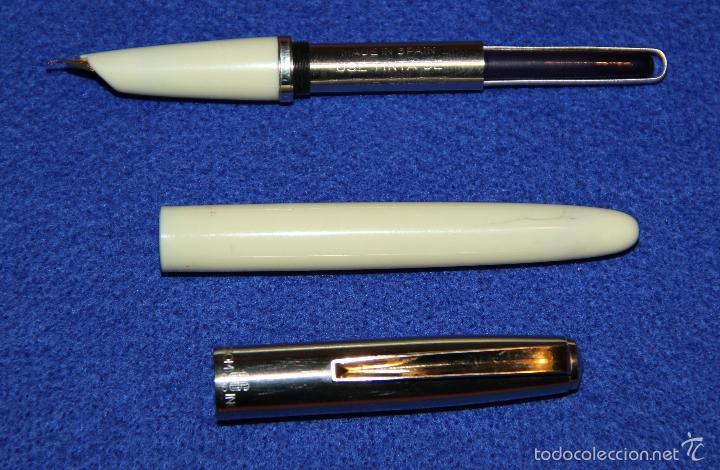 Plumas estilográficas antiguas: PLUMA ESTILOGRAFICA INOXCROM 66 ORO CLIP DORADO - Foto 7 - 55340034