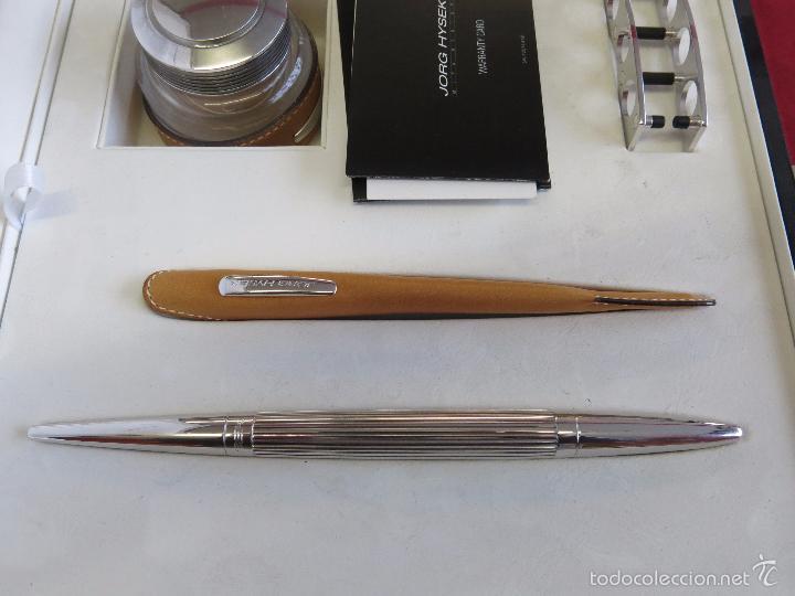 Plumas estilográficas antiguas: Jorg Hysek Meta design, estilografica y set escritorio. - Foto 5 - 56307366