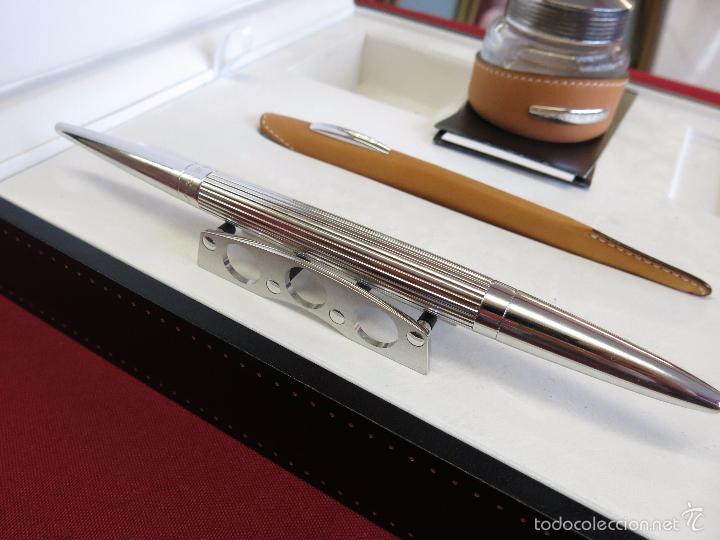 Plumas estilográficas antiguas: Jorg Hysek Meta design, estilografica y set escritorio. - Foto 8 - 56307366