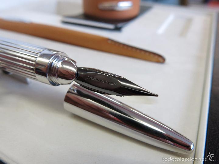 Plumas estilográficas antiguas: Jorg Hysek Meta design, estilografica y set escritorio. - Foto 9 - 56307366