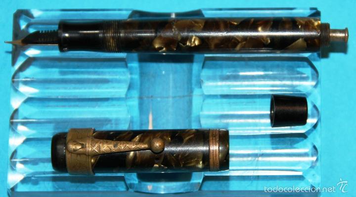 Plumas estilográficas antiguas: ANTIGUA PLUMA ESTILOGRAFICA UNIVERSAL 40 ORO - Foto 4 - 56369359