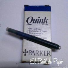 Plumas estilográficas antiguas: CAJA PARKER QUINK 5 UNIDADES RECAMBIO PARA PLUMAS. Lote 94270383