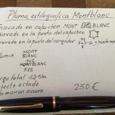Plumas estilográficas antiguas: PLUMA ESTILOGRÁFICA MONTBLANC. Lote 102584894