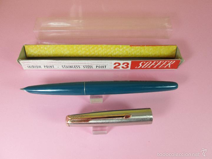Plumas estilográficas antiguas: N640-PLUMA ESTILOGRAFICA-SOFFER 23-ESPAÑA-VERDE+CROMO-CLIP DORADO-NOS-CAJA-NUEVA - Foto 13 - 39198242