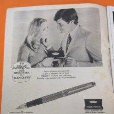 Plumas estilográficas antiguas: PUBLICIDAD 1971 - COLECCION PLUMAS Y BOLIS - PARKER 75. Lote 56975468