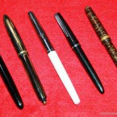 Plumas estilográficas antiguas: LOTE 5 PLUMAS PARA RESTAURAR , PIEZAS O RECAMBIO. Lote 57045733