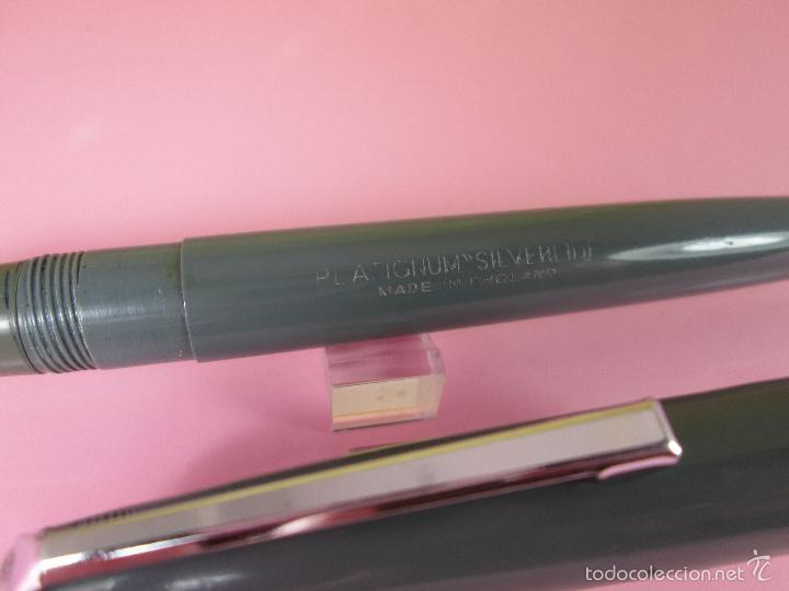 Plumas estilográficas antiguas: N7668-PLUMA ESTILOGRÁFICA-PLATIGNUM SILVERLINE-UK-GRIS-VER FOTOS. - Foto 11 - 57197352