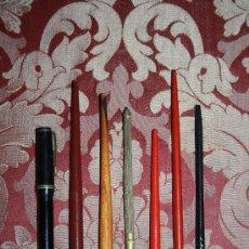 Plumas estilográficas antiguas: LOTE DE 7 PLUMAS ESTILOGRÁFICAS DEL PRIMER TERCIO DEL S.XX - LA NEGRA ES 'WATERMAN'S'. Lote 58250395