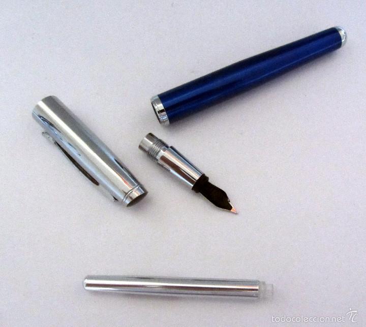 Plumas estilográficas antiguas: PLUMA ESTILOGRAFICA AZUL IRIDIUM POINT GERMANY BLUE - Foto 4 - 60213703