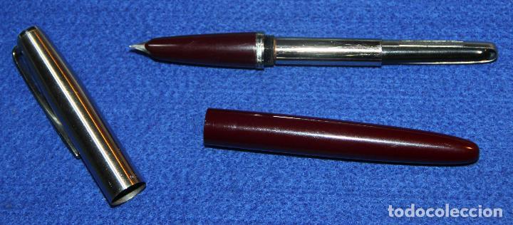 Plumas estilográficas antiguas: PLUMA ESTILOGRAFICA INOXCROM 55 BURDEOS * - Foto 4 - 62130728