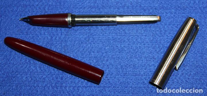 Plumas estilográficas antiguas: PLUMA ESTILOGRAFICA INOXCROM 55 BURDEOS * - Foto 5 - 62130728