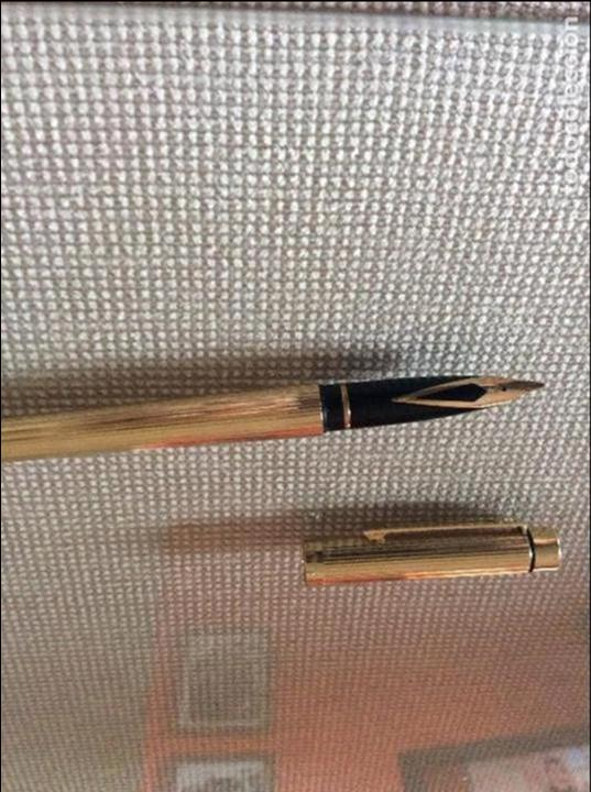 Plumas estilográficas antiguas: SHEAFFER TARGA IMPERIAL 18k Chapada - Foto 5 - 64760839