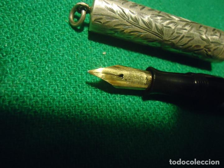 Plumas estilográficas antiguas: Watermans 452 1/5 V plata sterling, oro 14k. USA 1916 - Foto 5 - 64794799