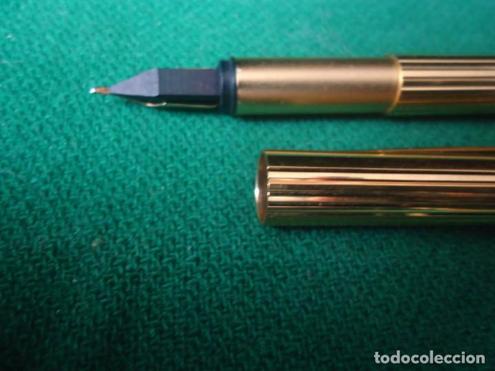 Plumas estilográficas antiguas: Juego Montblanc Pluma oro 14ct 585 ,Roller y Boligrafo. - Foto 7 - 176111239