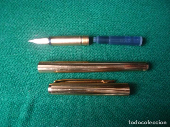 Plumas estilográficas antiguas: Juego Montblanc Pluma oro 14ct 585 ,Roller y Boligrafo. - Foto 8 - 176111239