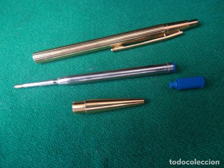 Plumas estilográficas antiguas: Juego Montblanc Pluma oro 14ct 585 ,Roller y Boligrafo. - Foto 18 - 176111239