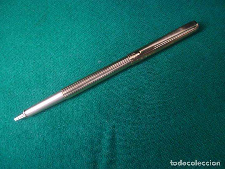 Plumas estilográficas antiguas: Juego Montblanc Pluma oro 14ct 585 ,Roller y Boligrafo. - Foto 24 - 176111239