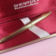 Old Fountain Pens - 7479-pluma estilografica-sheaffer 827 barleycorn-gold plated-plumín inlaid oro.F-chassing llamado - 69432605