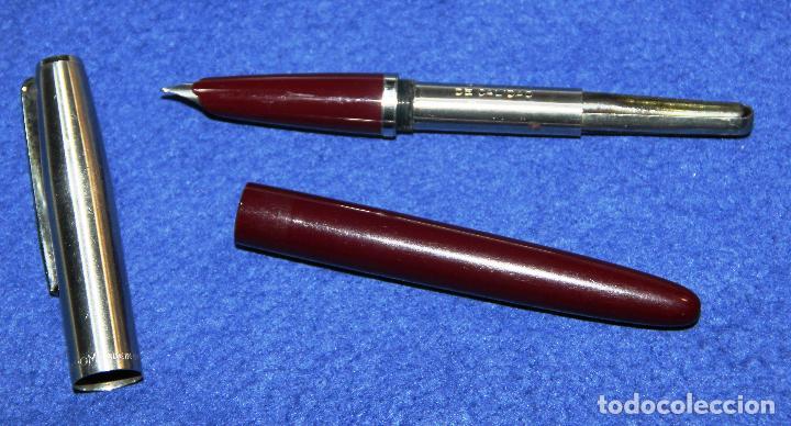 Plumas estilográficas antiguas: ANTIGUA PLUMA ESTILOGRAFICA INOXCROM 55 BURDEOS * - Foto 4 - 70559445