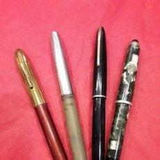 Plumas estilográficas antiguas: LOTE 4 ESTILOGRAFICAS. PARKER MAS DOS AMERICANAS Y UNA FRANCESA. Lote 73451739