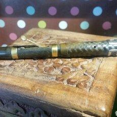 Penne stilografiche antiche: PLUMA ESTILOGRAFICA ( 11CMS) PEQUEÑA GOLD PLATED 14K TRADE 20. Lote 76513835