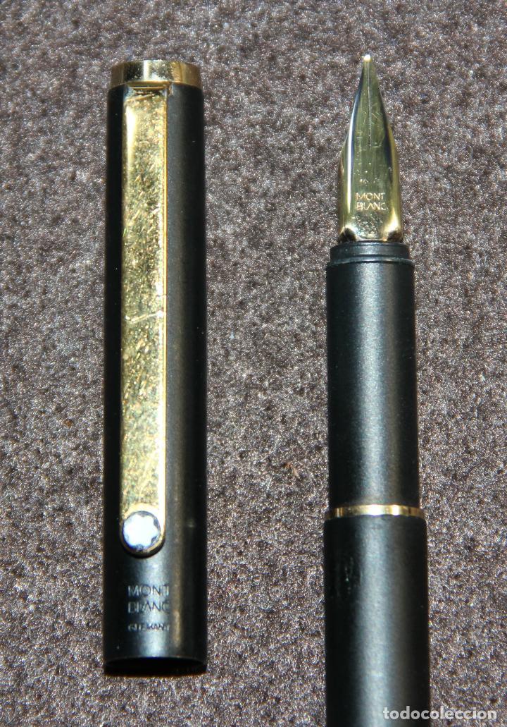 Plumas estilográficas antiguas: PLUMA ESTILOGRAFICA MONTBLANC SLIM BLACK - Foto 3 - 145568504