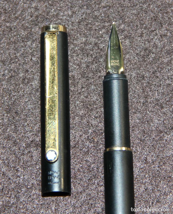 Plumas estilográficas antiguas: PLUMA ESTILOGRAFICA MONTBLANC SLIM BLACK - Foto 8 - 145568504