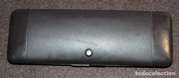 Plumas estilográficas antiguas: PLUMA ESTILOGRAFICA MONTBLANC SLIM BLACK - Foto 9 - 145568504