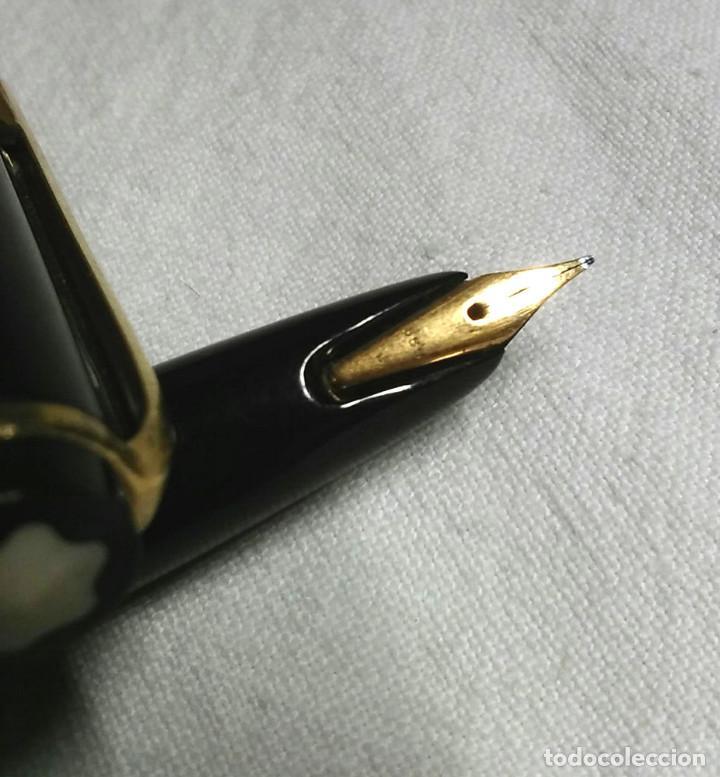 Plumas estilográficas antiguas: Pluma Montblanc plumin oro 382, resina negra años 60, no probada - Foto 2 - 77988489