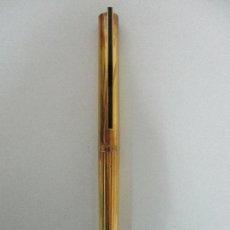 Plumas estilográficas antiguas: PLUMA ESTILOGRÁFICA - S.T. DUPONT DE PARÍS - CUERPO DE PLATA 925 - BAÑADA EN ORO - PLUMÍN ORO 18 CT. Lote 125028852