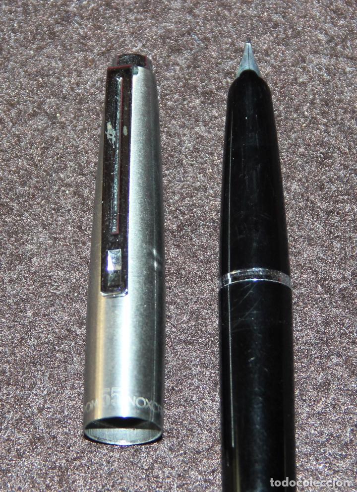 Plumas estilográficas antiguas: ANTIGUA PLUMA ESTILOGRAFICA INOXCROM 55 MODELO ULTIMO - Foto 2 - 80310285