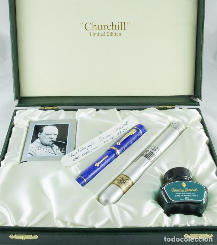 Plumas estilográficas antiguas: Conway Stewart Fountain pen Churchill - Foto 2 - 80913828