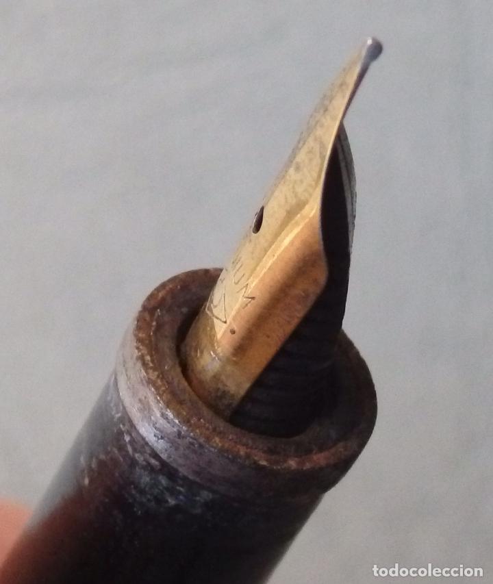 Plumas estilográficas antiguas: PLUMA ESTILOGRAFICA KAWECO 87 F DE EMBOLO - Foto 9 - 83782816
