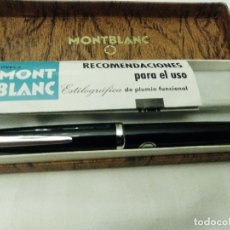 Plumas estilográficas antiguas: PLUMA MONTBLANC MODELO MONTE ROSA, CON MUY POCO USO. Lote 83831988
