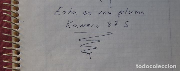 Plumas estilográficas antiguas: PLUMA ESTILOGRAFICA KAWECO 87 F DE EMBOLO - Foto 10 - 83782816