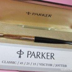 Old Fountain Pens - 5959-pluma estilografica-parker 45 custom-england-plumín oro-convertidor-caja-papel-ver fotos. - 85867508