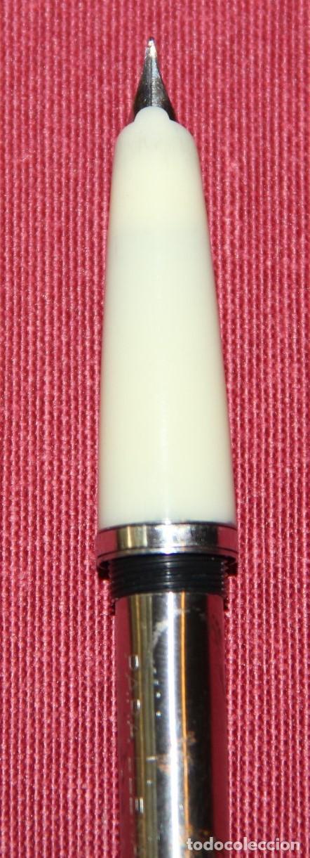 Plumas estilográficas antiguas: ANTIGUA PLUMA ESTILOGRAFICA INOXCROM 55 BLANCA - Foto 5 - 86265572