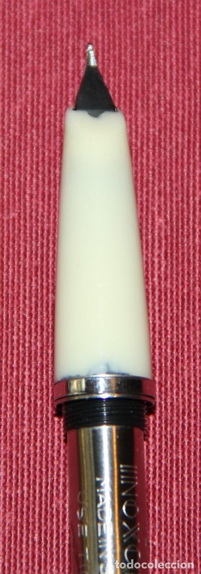 Plumas estilográficas antiguas: ANTIGUA PLUMA ESTILOGRAFICA INOXCROM 55 BLANCA - Foto 6 - 86265572