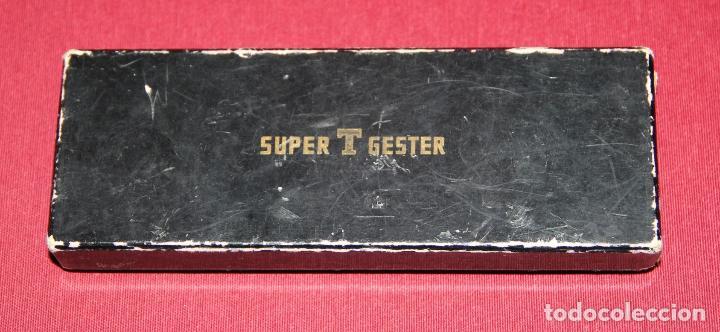 Plumas estilográficas antiguas: ANTIGUA PLUMA ESTILOGRAFICA SUPER T GESTER 50 - COLECCIONISTAS - Foto 9 - 86448064