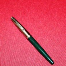 Plumas estilográficas antiguas: PLUMA ESTILOGRAFICA INOXCROM 77 VERDE NUEVA - PLUMIN INLAID. Lote 86468756