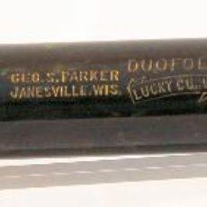 Plumas estilográficas antiguas: PLUMA ESTILOGRÁFICA PARKER DUOFOLD SENIOR LUCKY CURVE JADE GREEN - 1926 -. Lote 87002068