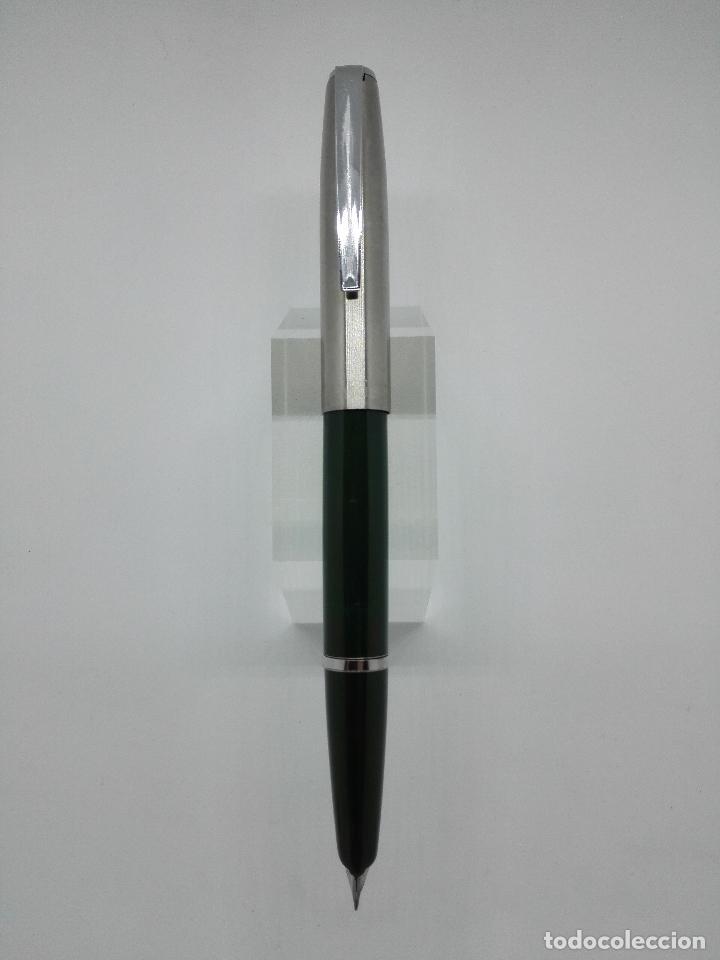 PLUMA ESTILOGRÁFICA INOXCROM 55 VERDE (Plumas Estilográficas, Bolígrafos y Plumillas - Plumas)