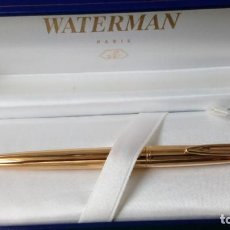 Plumas estilográficas antiguas: WATERMAN C/F INSIGNIA, ORO18K PLUMA AÑOS 70. Lote 93613295