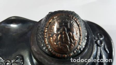 Plumas estilográficas antiguas: ANTIGUA ESCRIBANIA DOBLE TINTERO - RECUERDO DE MONTSERRAT BARCELONA ESPAÑA - - Foto 2 - 94666043
