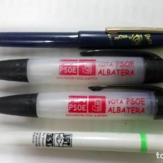 Plumas estilográficas antiguas: 4 BOLÍGRAFOS DEL PSOE DISTINTAS ÉPOCAS . Lote 97874671